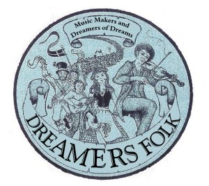 folk musicians processing to Dreamers Folk